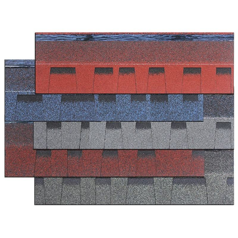High Quality Waterproof Materials Laminated Type Fiberglass Shingles Roofing Asphalt USA