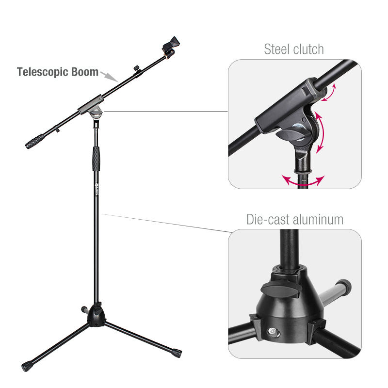 OEM Adjustable Tripod Telescope Professional Boom Microphone Stand for Microphone