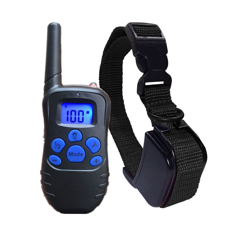 300M Remote Electric Dog Collar Shock Vibration Rechargeable Rainproof Dog Training Collar With LCD Display training collar
