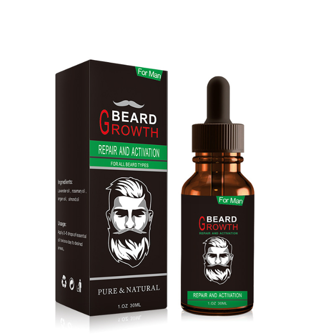 Private label Natural 30ml Custom Dropper Smoothing Organic Beard Growth Oil for Men