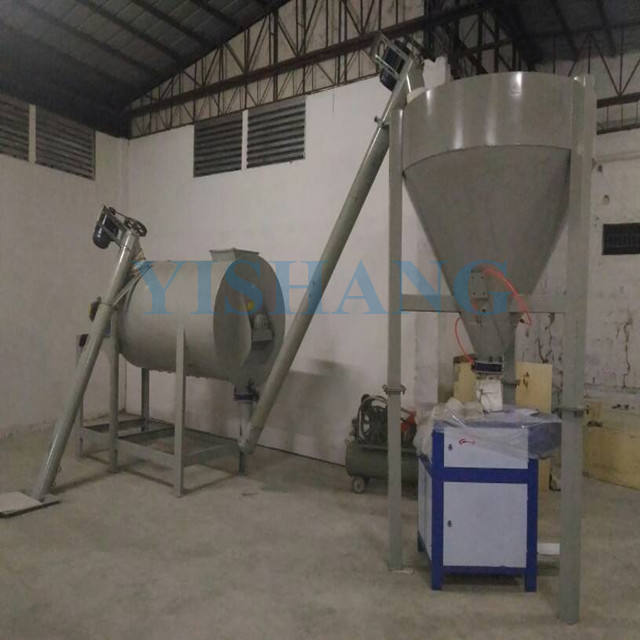 Simple ceramic tile adhesive dry mortar making machine manufacturing plant