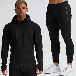 Wholesale Special custom fitness wear mens thermal slim fit zip up sweat jogging Hoodies suits