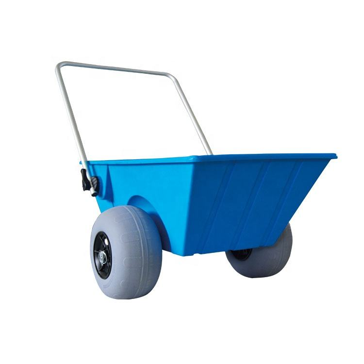 Aluminum Beach Cart balloon wheels Fishing Beach wagon