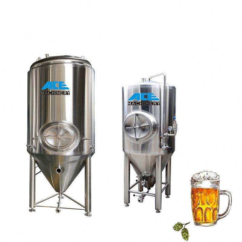 2000l Stainless Conical Unitank Fermenter Mini Beer Brewing Equipment Used In Microbrewery Brewpub Insulated Tank