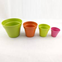 Eco friendly bamboo fiber flower pot with bamboo fiber cover good for seed sprout and grow