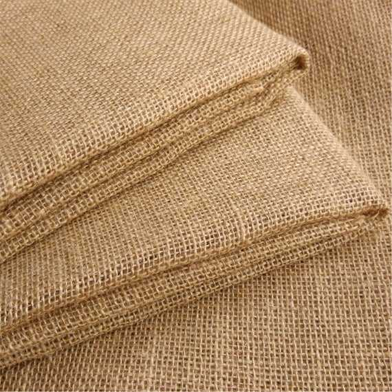 Textiles Hessian Jute Burlap 100% Woven Jute Fabric Roll For Bags Directly Factory
