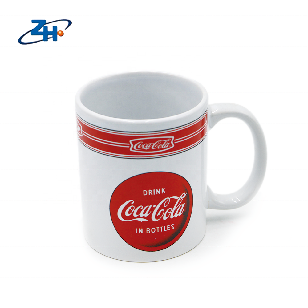 Custom advertising 11oz white ceramic mug cola cup for sublimation