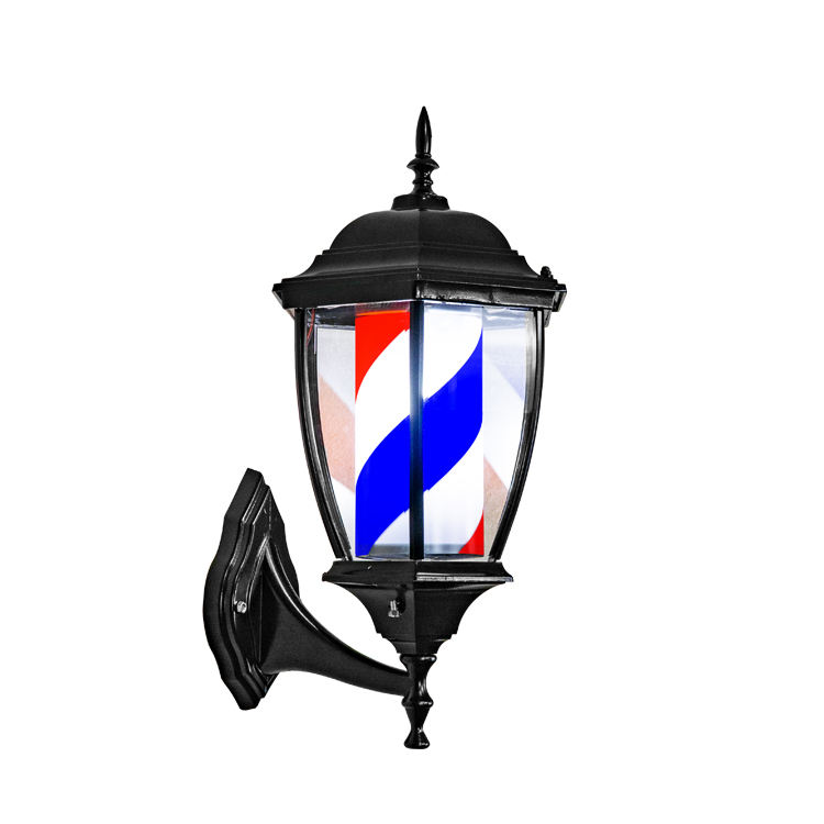 Barber Shop Sign Barber Produkte Rotierende Streifen Pole Light Friseursalon Wand montage US Plug Barber Pole <span class=keywords><strong>Lampe</strong></span>