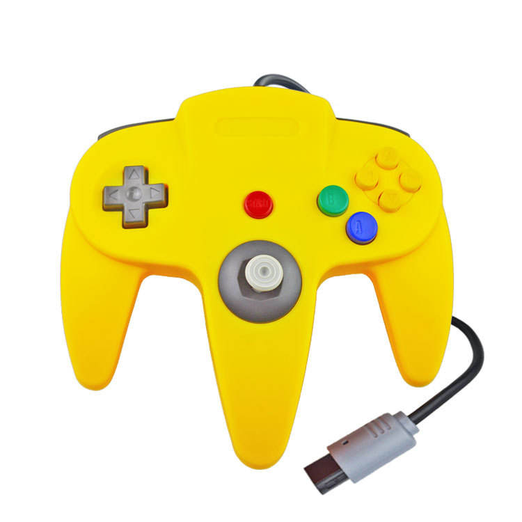 Colorful N64 controller gamepad wired game joypads For Nintendo N 64 host joystick transparency purple color