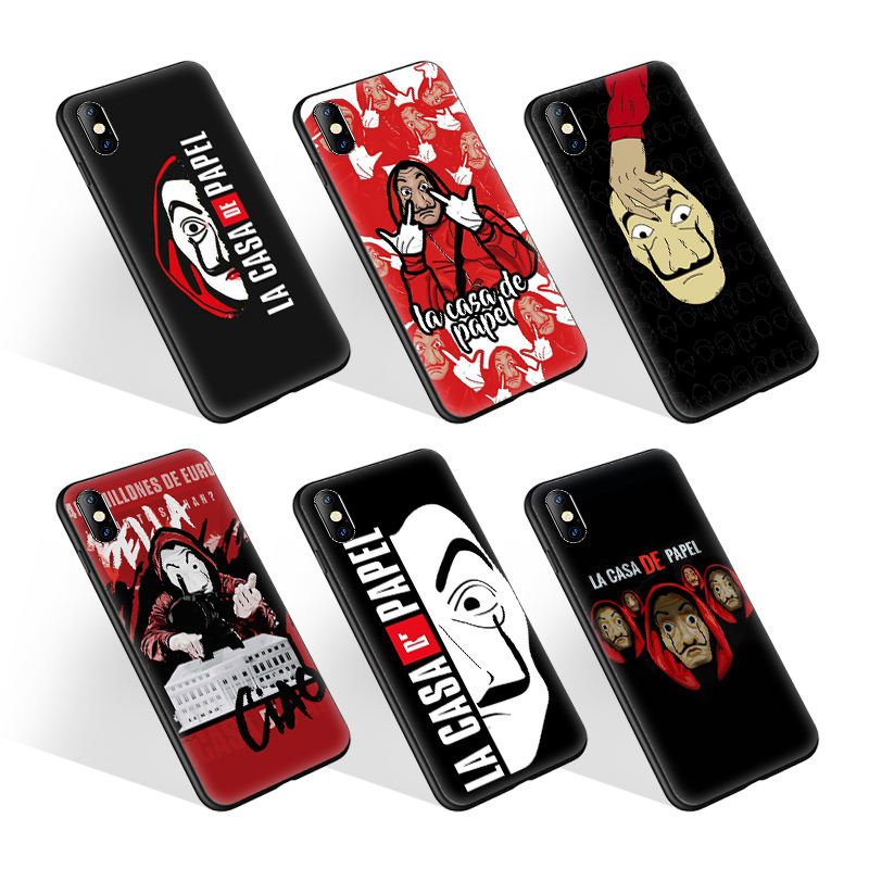 High Quality Print La casa de Papel Ultra Slim Phone Case for iPhone 11 Pro XS Silicon Cover for Samsung Galaxy S20