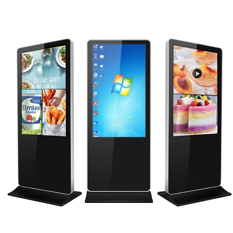 "55"" floor stand standalone android win7/8/10 lcd advertising player interactive digital signage ad displays touch screen kiosk"