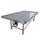 Greenhouse Movable ABS tray rolling bench / grow table with steering wheel for commercial hydroponic