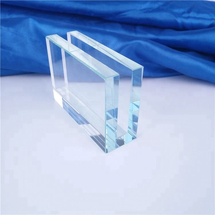 Crystal Glass Card Holder Desk Promotional Gift Set Custom Logo Business Gift