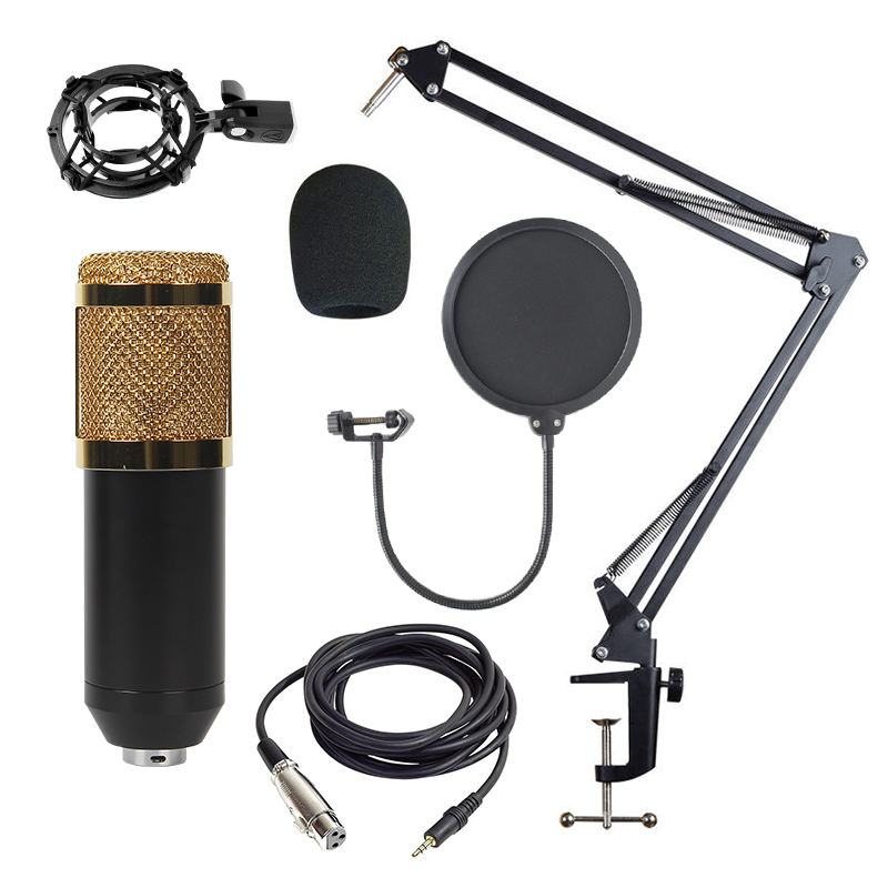 Buy BM800 Radio Microphone Pc Podcast Recording Professional Gaming Recording Condenser Microphone