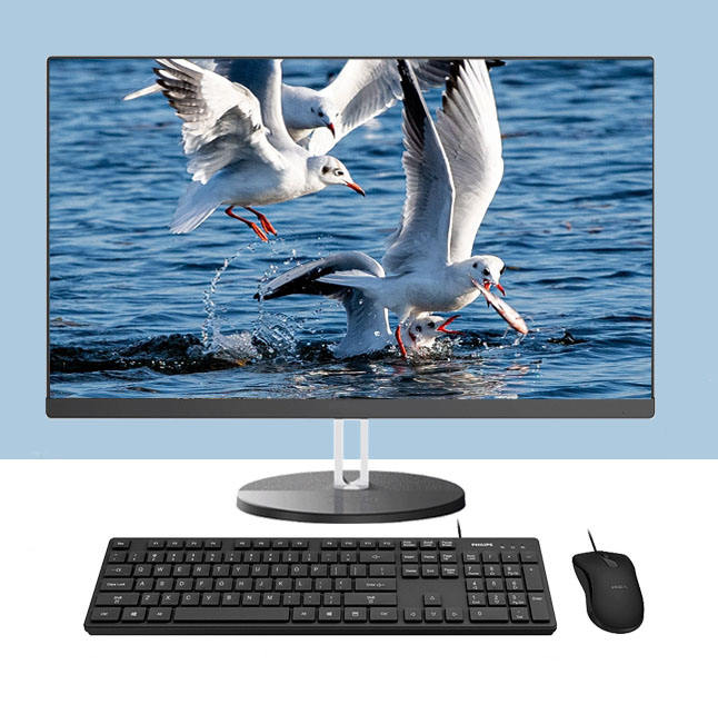 Gaming pc Core i9 9900k i3/ i5/ i7/ i9 23.8 inch desktop pc with LED screen camera all in one pc