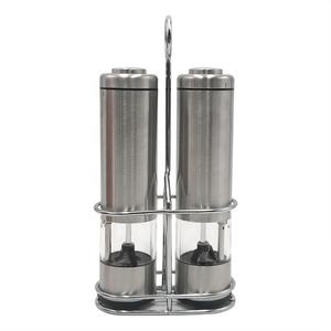 Electric Salt and Pepper Grinder Set Battery Operated Stainless Steel Grinders