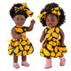 Guangzhou Manufacturer Plastic Fashion 16 Inch African American Black Girl Dolls For Kids Present