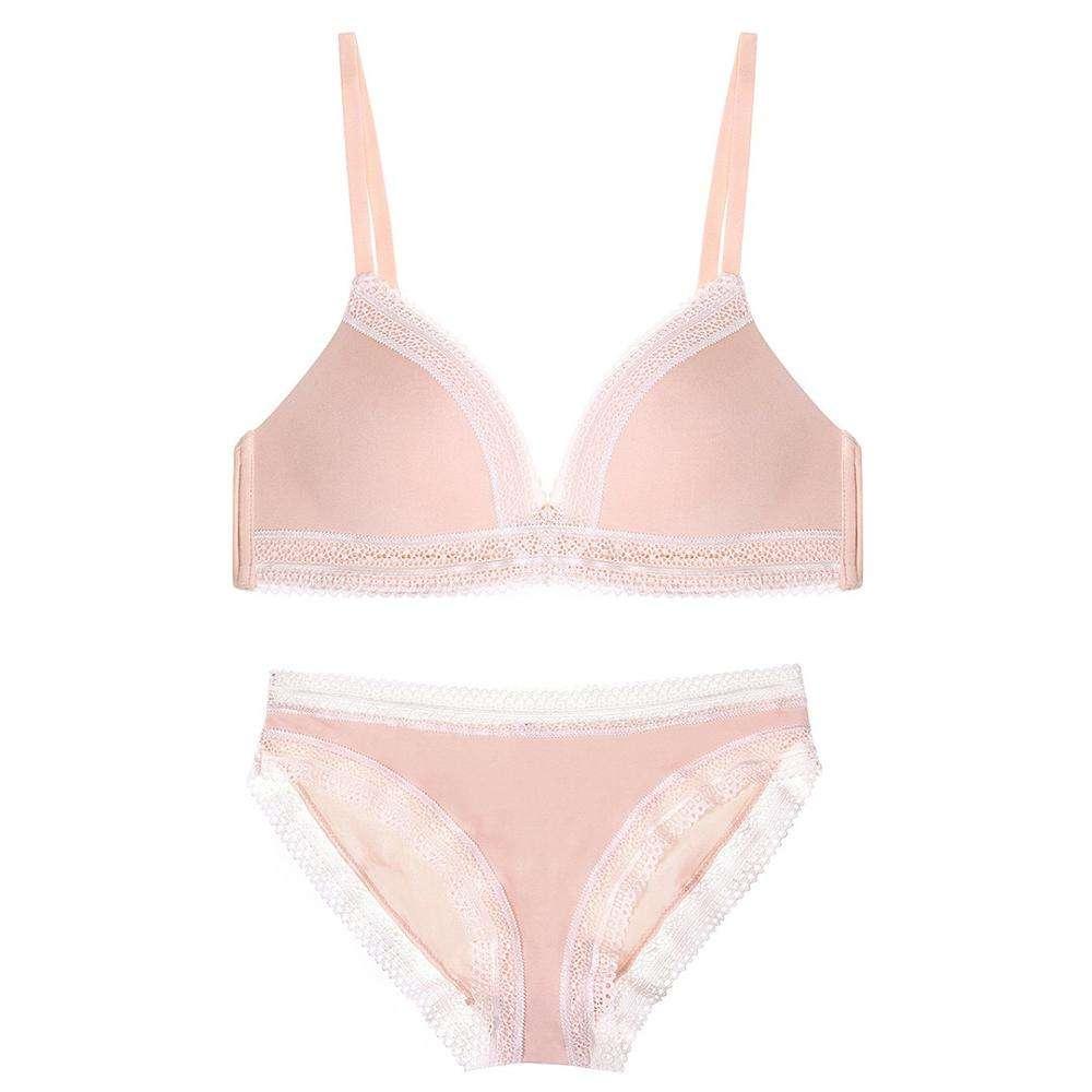 핑크 소녀 브래지어 34 크기 새로운 디자인 소녀 섹시한 속옷 브래지어 섹시한 틴 브래지어 팬티