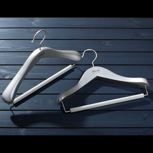 2020 factory brand new luxury solid white wooden clothing hangers