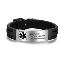 Wholesale Personalized Custom Engraving Medical Bracelets Adjustable Sport Emergency Id Silicone Bracelets
