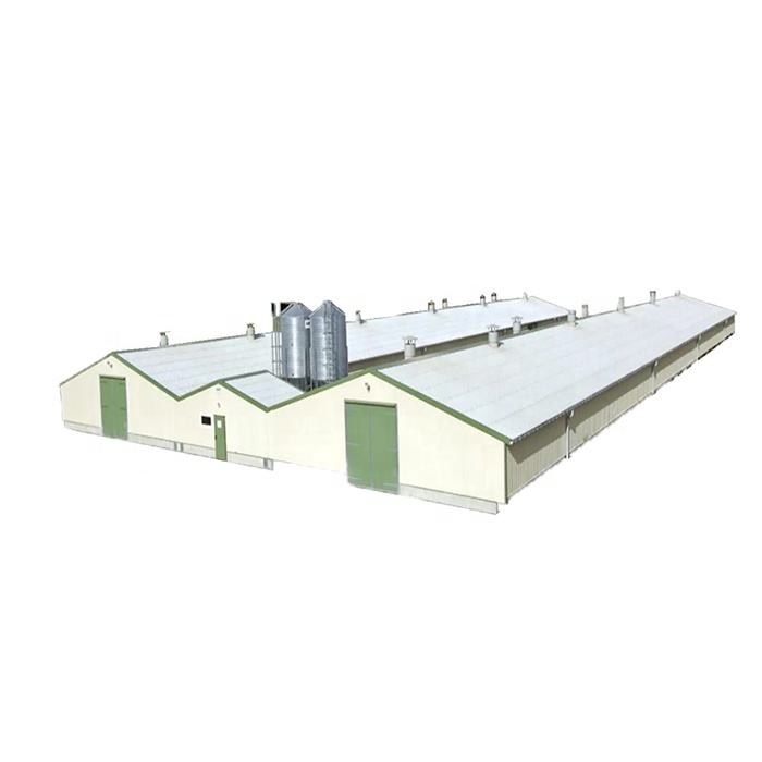 Modern Design Commercial Galvanized Steel Structure Prefabricated Chicken Poultry Farm House