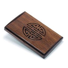 Wholesale Personality Chicken Wing Wood Cardbox Business Card Holder Hollow out Wooden Name Card Holder