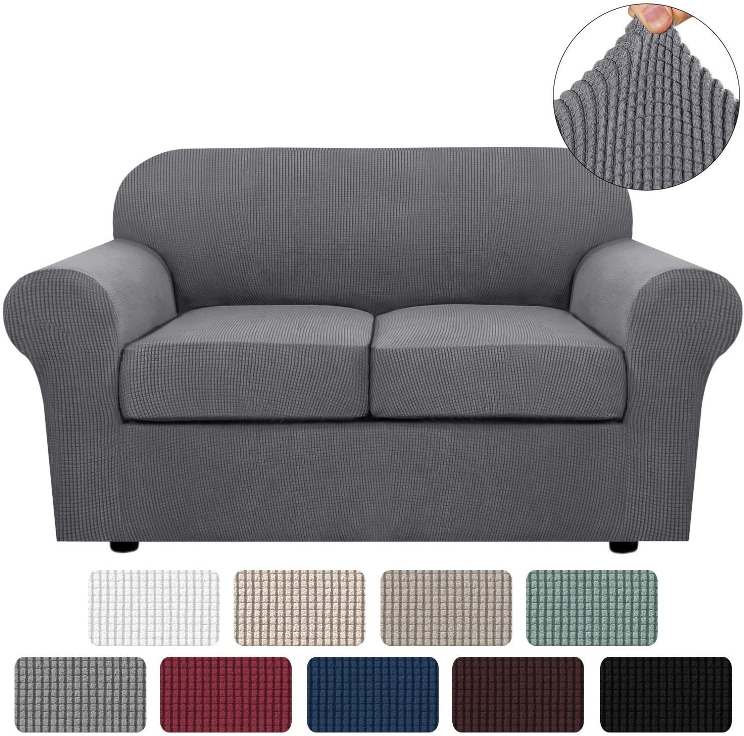 3 Pieces Stretch Sofa Cover With 2 Cushion Covers Loveseat Sofa Slipcover for Living Furniture Covers Sofa