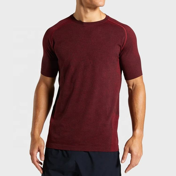 Custom Druck logo männer O Neck Slim Fit fitness sport t-shirt für gym