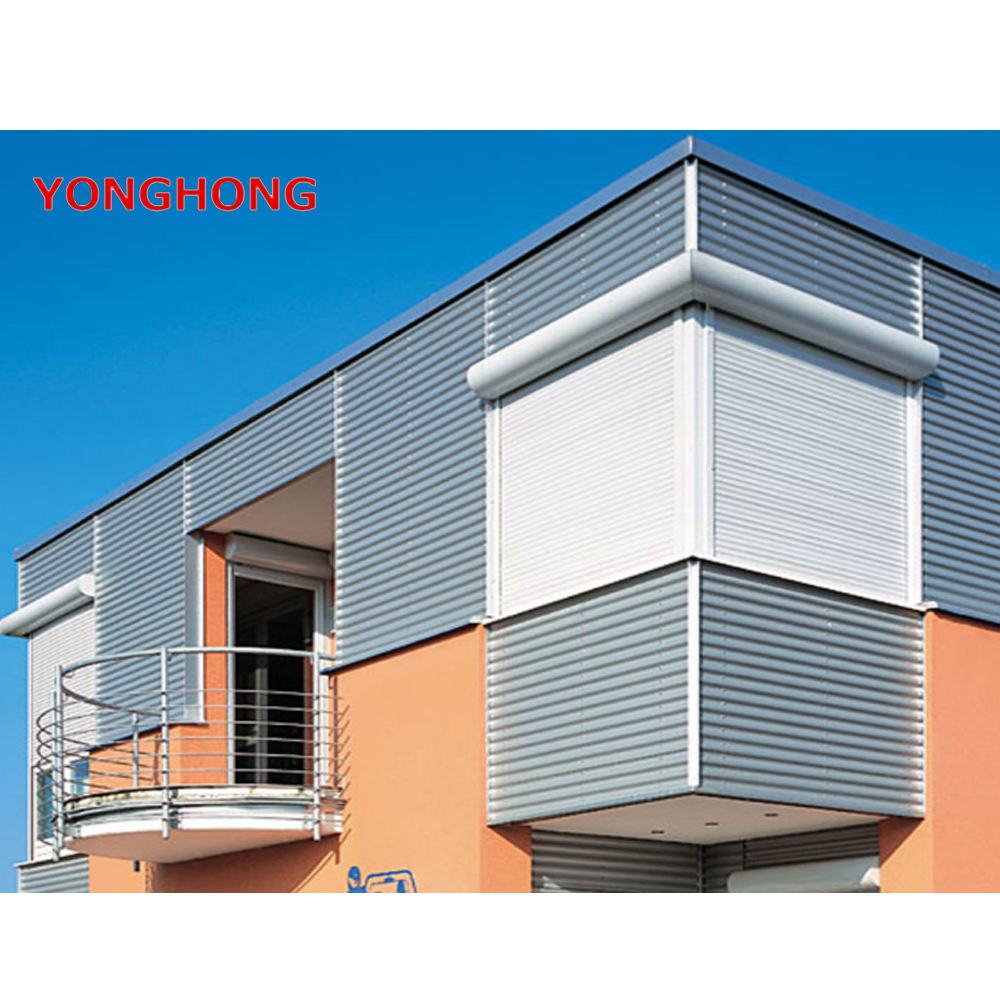 Remote control electric steel material aluminum roller shutter window