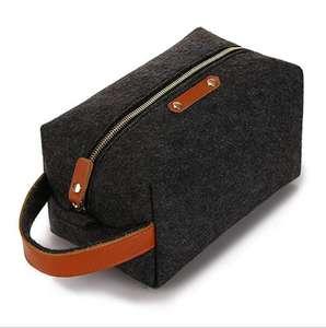 Для мужчин и женщин шерсть фетр кожа фетр туалетных Макияж бритья Dopp комплект дорожная сумка