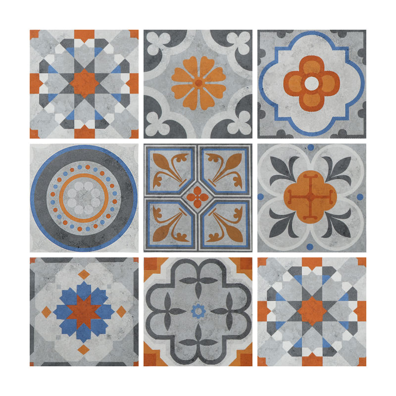 Cement Look Classic Moroccan Design Art Ceramic Decorative Tile 200x200 for Wall and Floor