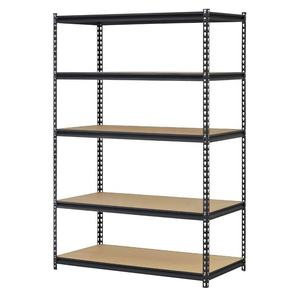 DIY height adjustable steel post shelving slotted angle