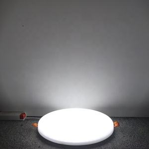 Round embedded indoor lighting 10w rimless panel light recessed PC cover frameless led panel light