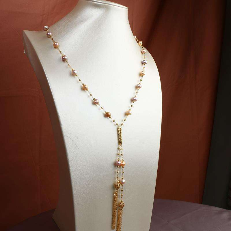 Factory new productsaccept OEM ladies fashion Hign Luster Pearl Long Necklace For Sale