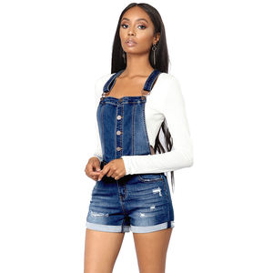 Sommer Denim overalls Frauen Hohe Taille Jeans Stretch Taste Kurze playsuits mini backless taste Overall