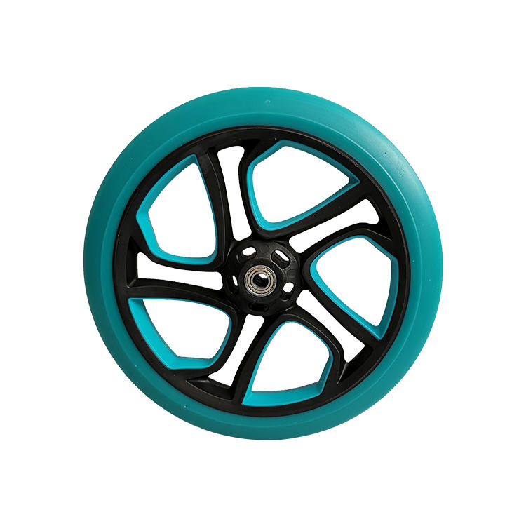 Sporty Colorful Fashion Scooter Big Wheels 10 inch Puncture Proof Solid PU Tire with Bearings