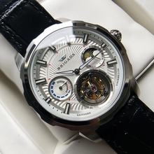 Custom oem stainless steel multi function chronograph moonphase tourbillon mechanical automatic movement men watch