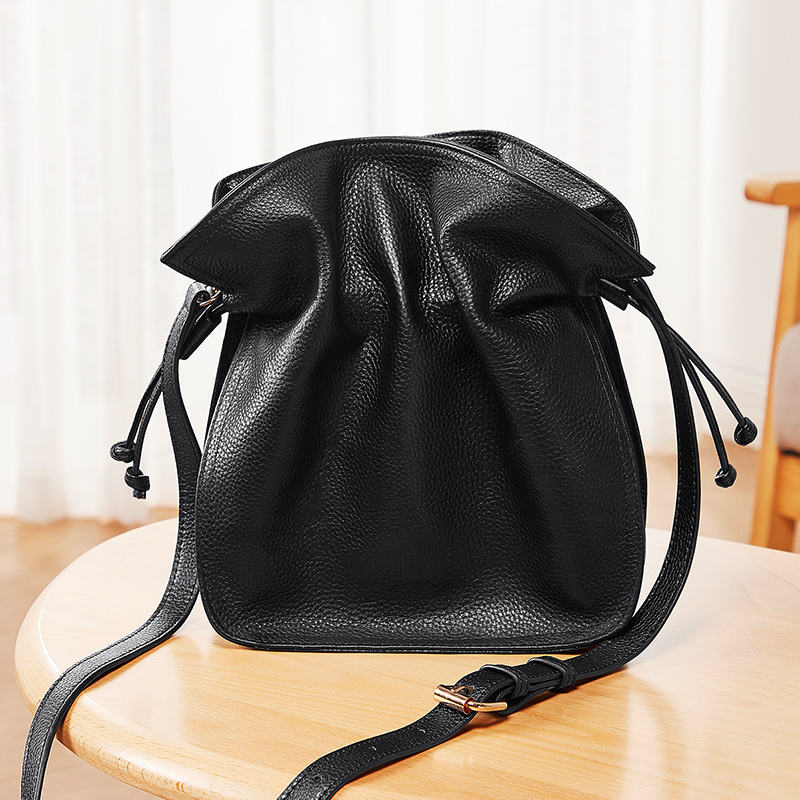 Fashion Designer Crossbody Bag Women Bucket Bag Genuine Leather Lady Fancy Shoulder Bag
