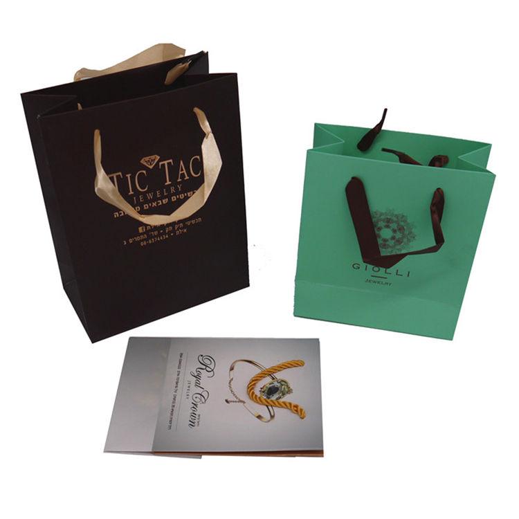 Custom LOGO Printed Fancy Paper Gift Bag