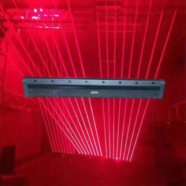 8 Eyes Red Beam Moving Head Stage Laser Light for Bar DJ Club Disco