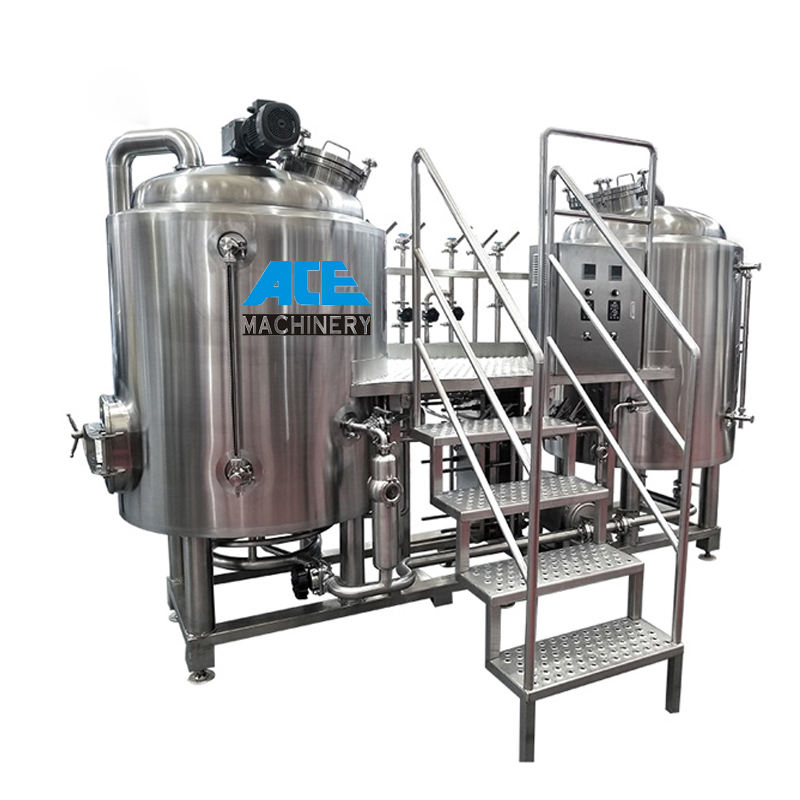 Stainless Steel Electric Jacketed Mash Tun homebrew 300l 1000l Home Beer 1-3 Vessels mash tun lauter tun for distillery