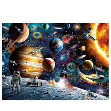 Custom clear space puzzle jigsaw puzzle 1000 pieces manufacturer for adults