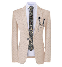 2020 new fashion costume slim fit men's suits dot coat