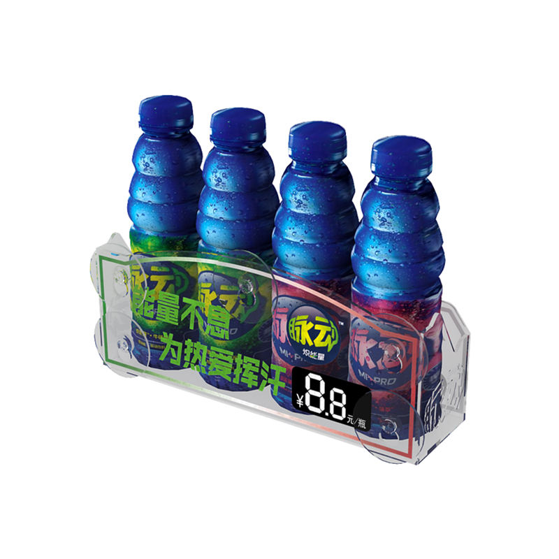 Refrigerator Cooler Door Merchandiser Acrylic Suction Cup Beverage Display Rack For Canned And Bottle Drink