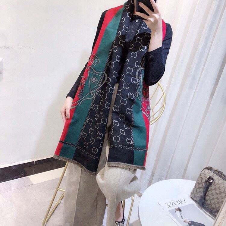 New selling different types shawl design classic scarfs for women winter