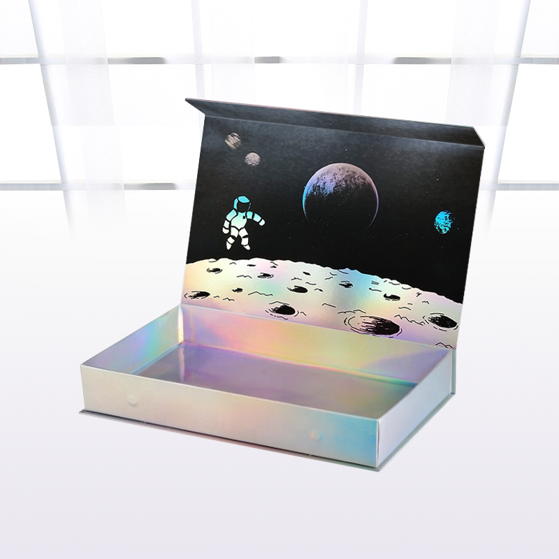 factory custom holographic packaging box clothes gift rigid box corrugated mailer box with logo