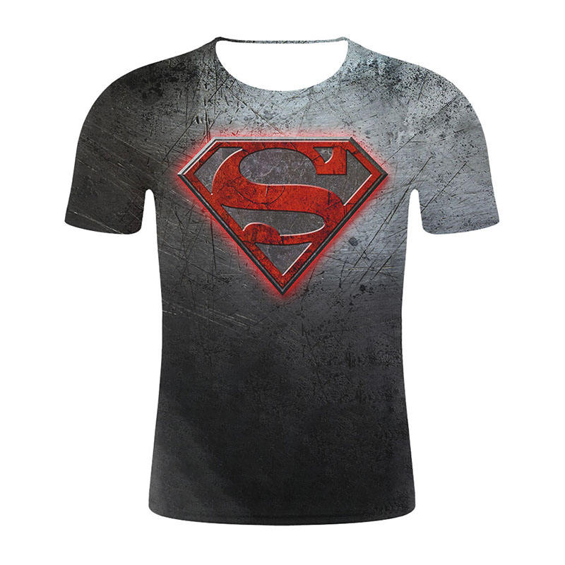 Summer Men Shirt superhero 4 Logo Tshirt 3D Metal Marvel Tops Captain Tees Fashion Superhero Clothes Venom Printed Tee Set
