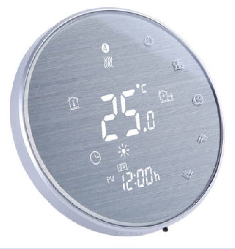 Round screen smart heating thermostat