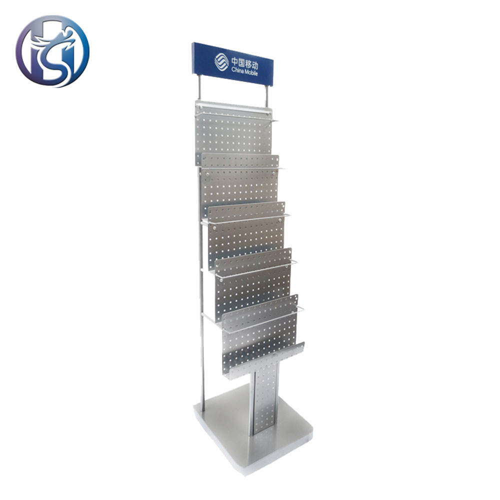 Custom mostra ufficio letteratura rack immobiliare 5 tier stand da pavimento brochure holder
