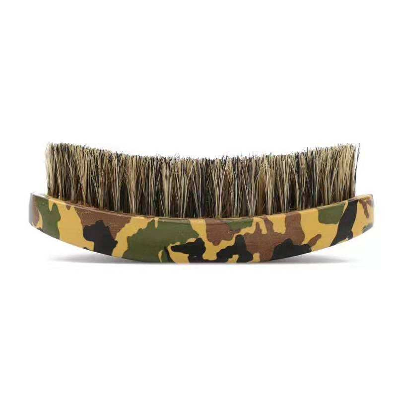 High quality camo curve beech board beard brush man beard brush